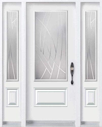 Porte d'entrée en acier de Style Alys