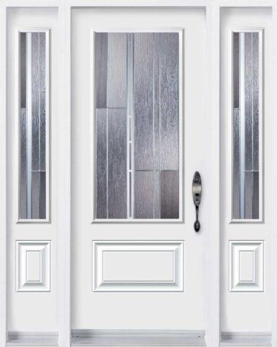 Porte d'entrée en acier de Style Barcello